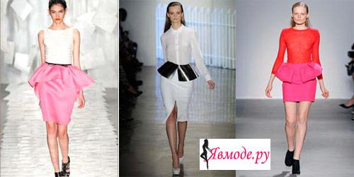 Модные юбки 2013 – юбка с рюшами