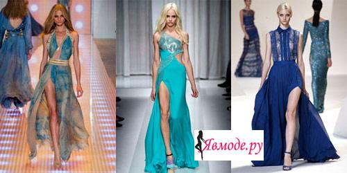 Модные платья 2013 – платья с разрезами