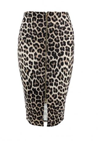 Леопардовая юбка карандаш LOST INK, 2299 рублей