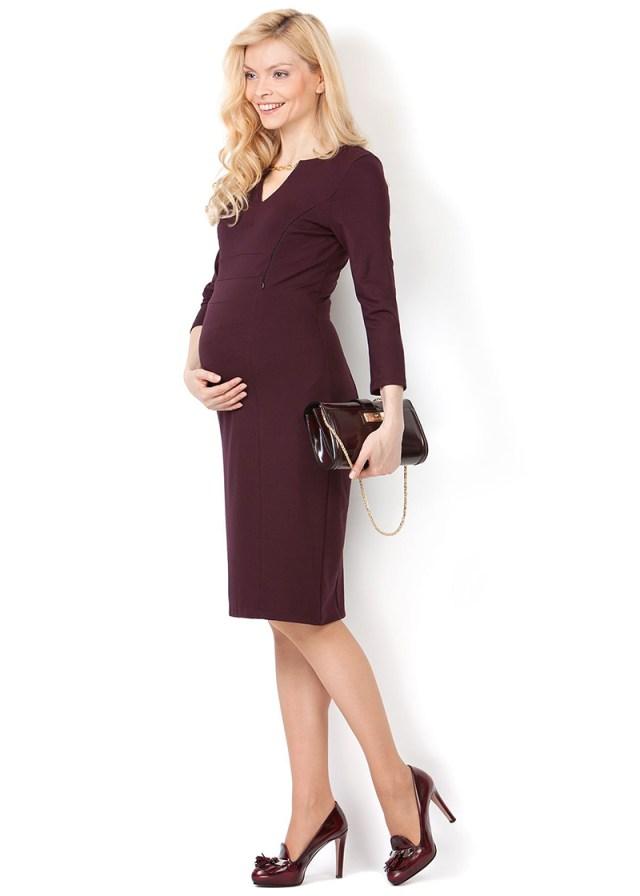 Фото классического платья для беременных женщин