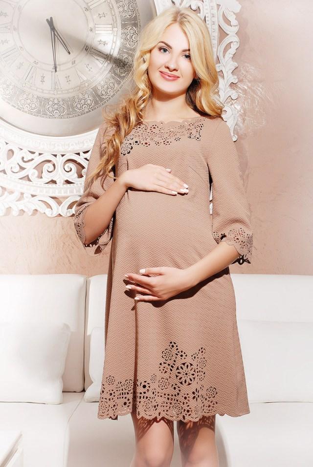 Невероятно милое и стильное платье для беременных женщин