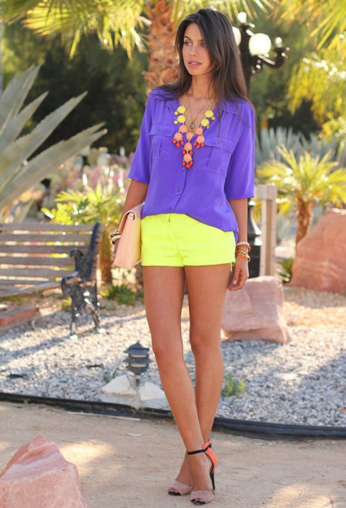 Неоновый цвет в одежде