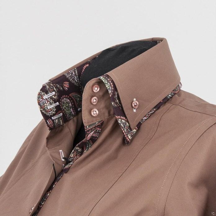 Мужская рубашка с двойным воротником – фото новинка сезона