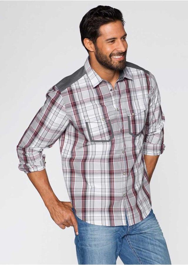Фото модной мужской клетчатой рубашки
