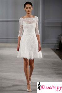 Короткие свадебные платья - фото модных платьев