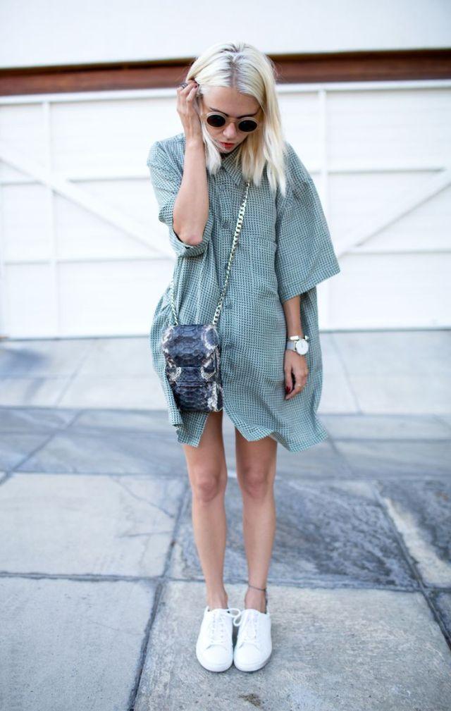 Мешковатое платье рубашка