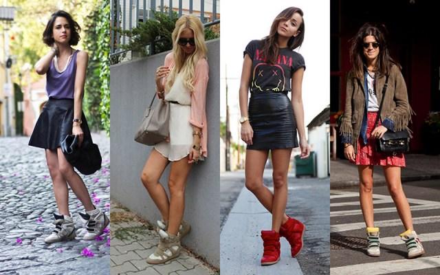Модные кроссовки на танкетке - фото новинки