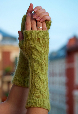 Вязаные митенки или перчатки без пальцев