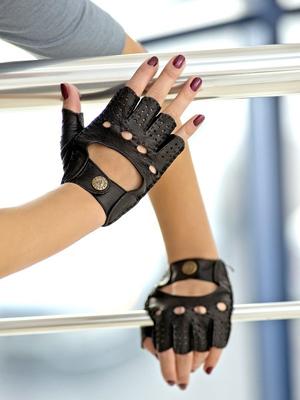 Фото кожаных перчаток без пальцев: