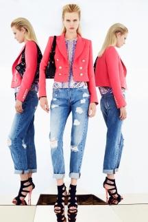 Модные джинсы 2014 фото Emilio Pucci весна-лето 2014