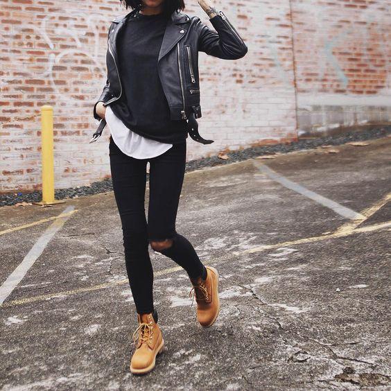 С чем модно носить тимберленды
