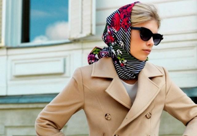 Классический способ завязывания платка на голове