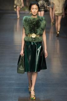 Меховое топ Dolce_&_Gabbana