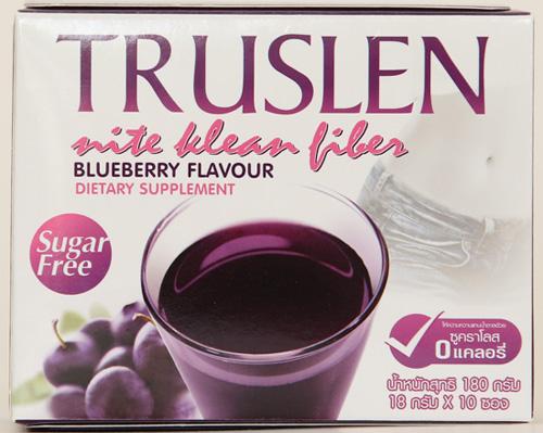 Напиток для контроля веса TRUSLEN NITE KLEAN FIBER (черничный кисель)