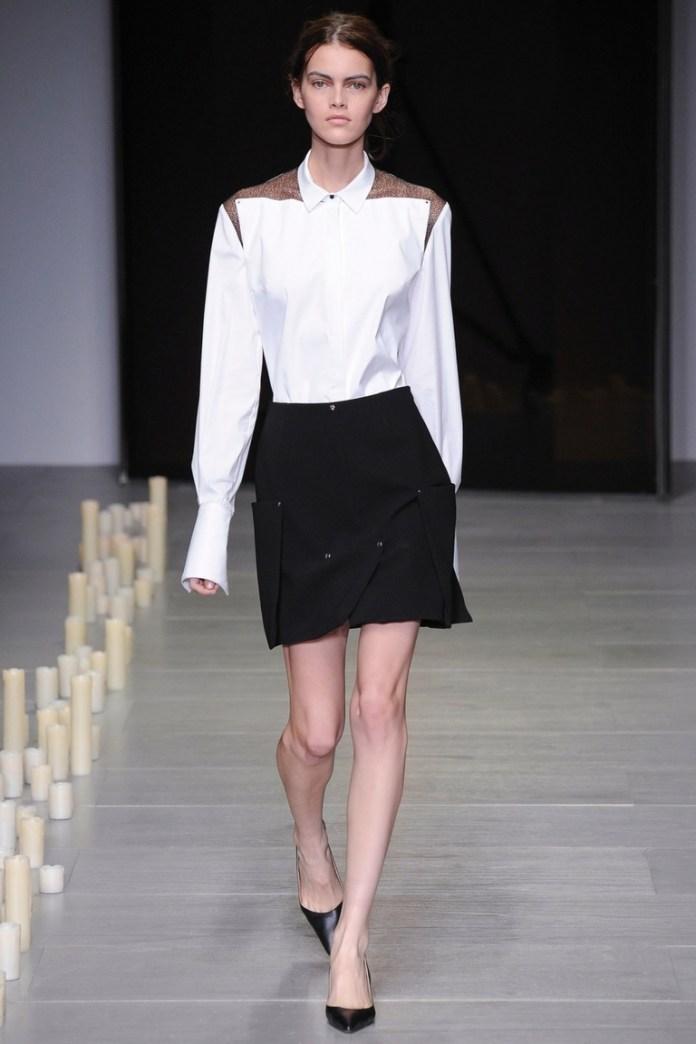 Модная белая рубашка 2015 – Marios Schwab