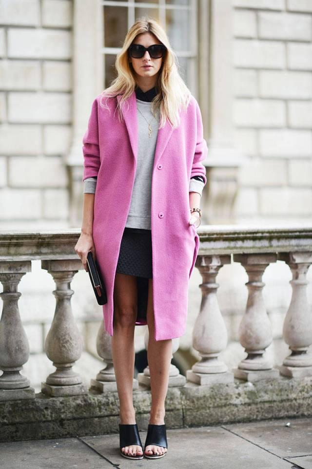 Фото новинка: розовое женское пальто