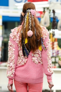 Модная прическа осень-зима 2014-2015 хвост – Chanel