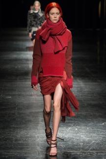 Модная юбка с рваными краями – мода осень-зима 2014-2015 – Prabal Gurung