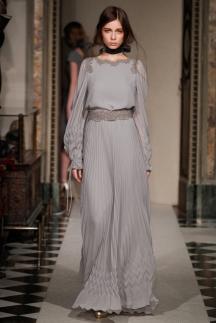 Длинное модное серое платье осень-зима 2014-2015 – Luisa Beccaria