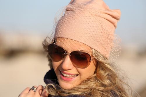 Как сделать шапку с вуалью