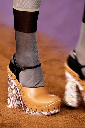 Prada гольфы с туфлями мода 2015