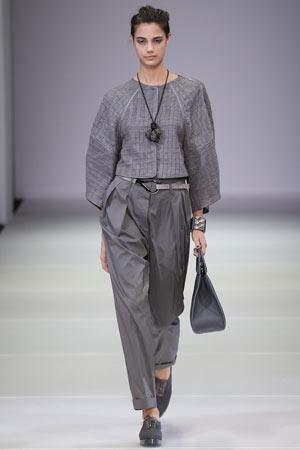 Модные серые брюки весна лето 2015 - Giorgio Armani
