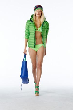 Однотонный зеленый купальник мода лето 2015 - Polo Ralph Lauren