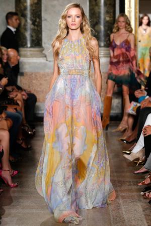 Длинное красивое платье весна лето 2015 фото Emilio Pucci