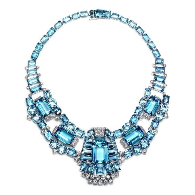 Ожерелье камень аквамарин