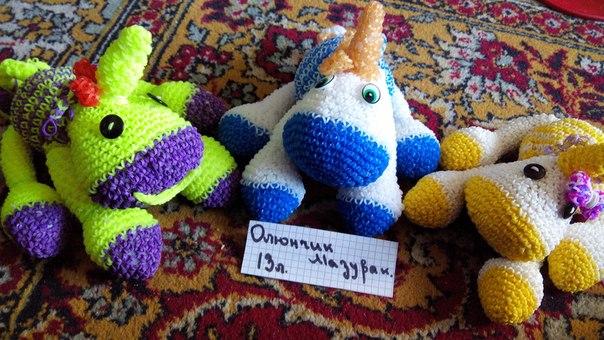 Плетение единорога из резинок лумигуруми