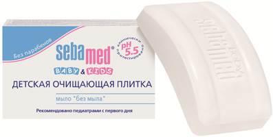 """Детская очищающая плитка SEBAMED, мыло """"без мыла"""", 100 г"""