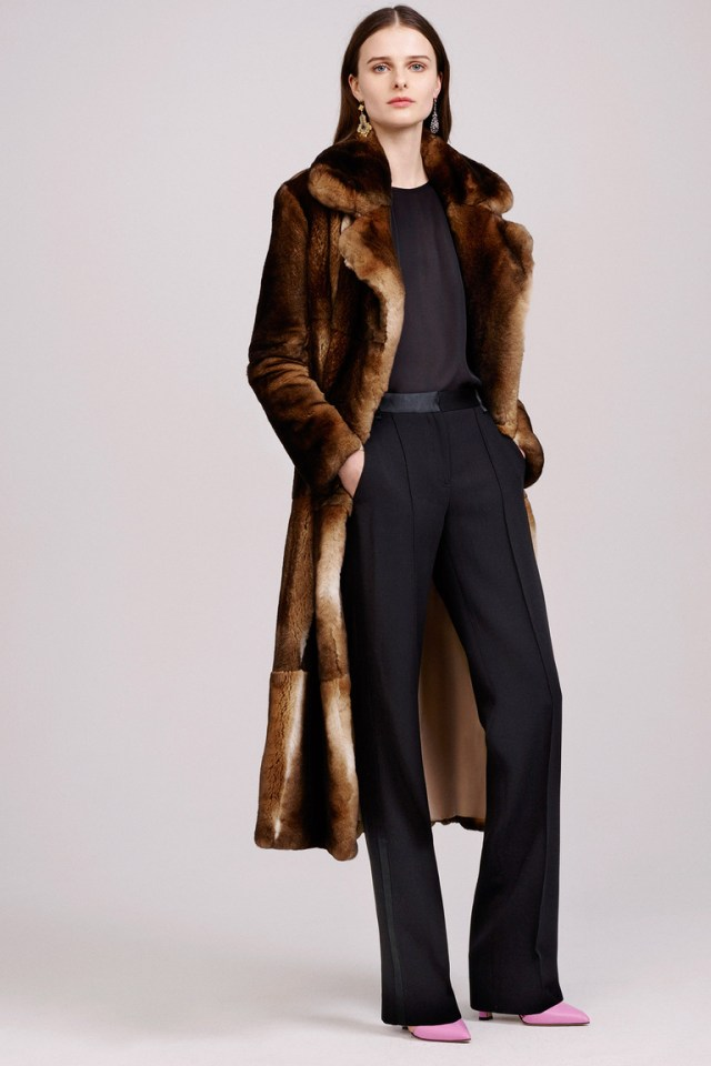 Модная шуба осень 2015 - зима 2016 фото новинка в коллекции Adam Lippes
