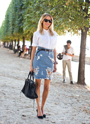 Джинсовая юбка фото