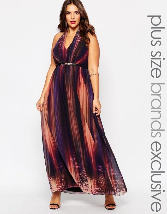 Мода для полных женщин 2016: длинное платье больших размеров - Little Mistress Plus, цена 9 176,44 руб.