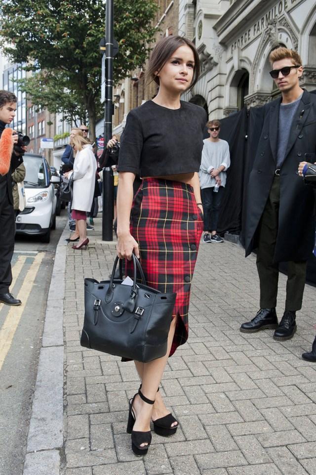 Модная юбка карандаш в клетку 2016 - фото новинки и тренды