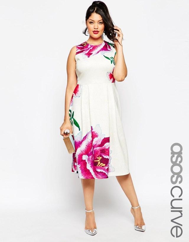 Яркое платье больших размеров - ASOS CURVE, цена 5 294,10 руб.