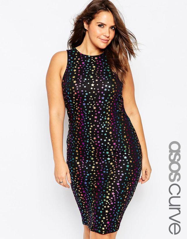 Модное платье 2016 для полных женщин - ASOS CURVE, цена 2 941,17 руб.