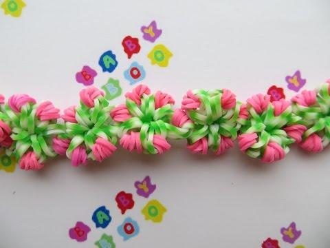 Браслет на вилке с цветами