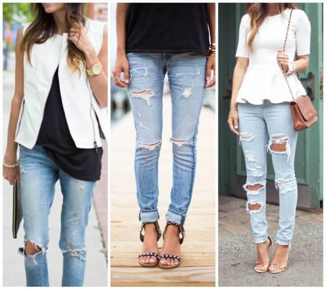 Модель – джинсы дудочки