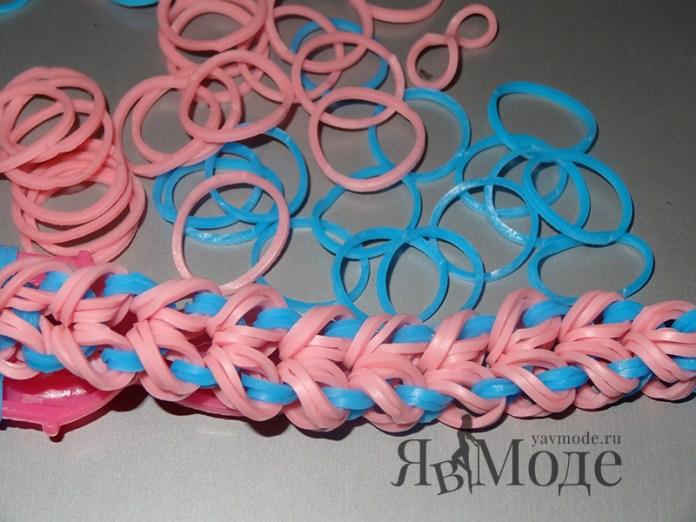 Плетение браслета Майями на рогатке