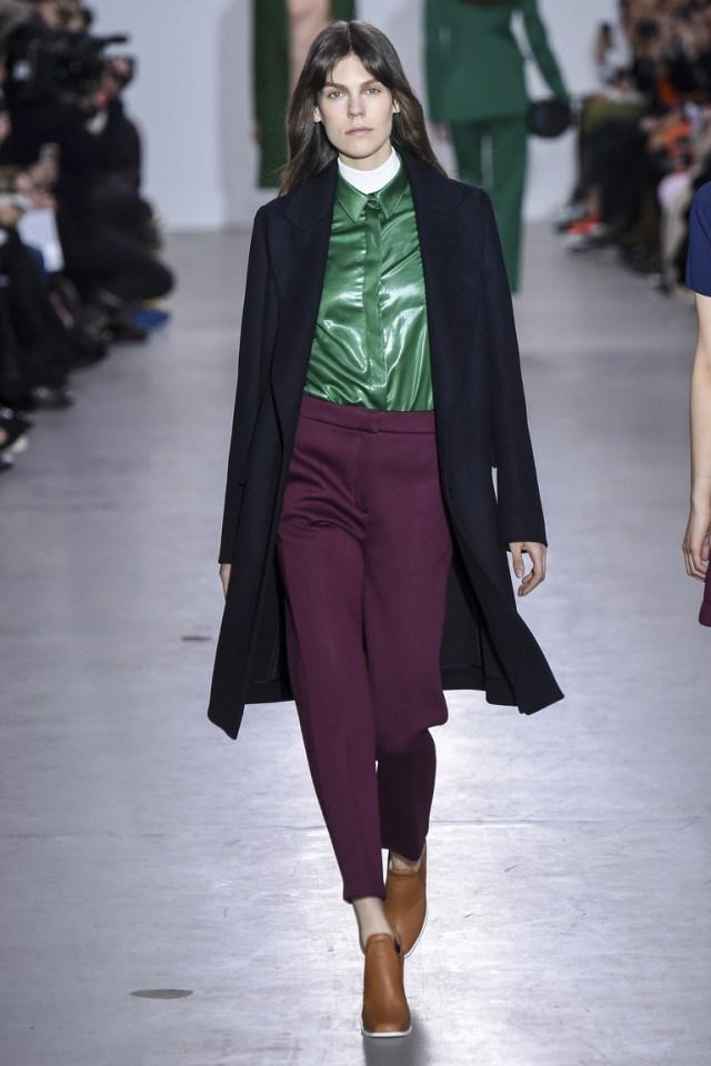 Модное классическое пальто 2016 – фото новинка от Cédric Charlier