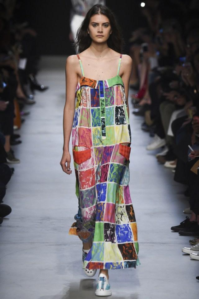 Модное длинное платье в клетку, модель 2016 года – фото новинка от Leonard