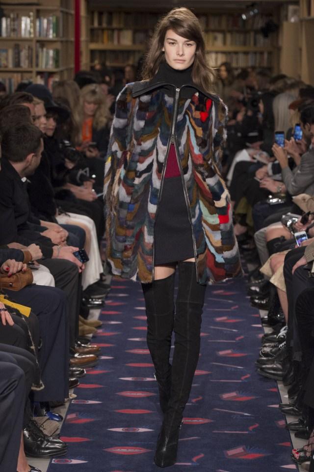 Модная меховая куртка 2016 в коллекции Sonia Rykiel