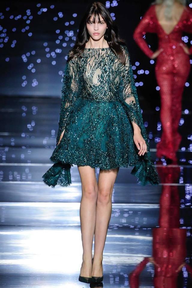 Зеленое новогоднее платье 2016 – фото новинка от Zuhair Murad