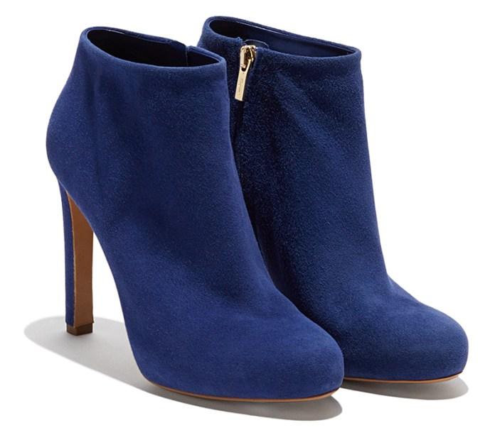 Синие туфли ботильоны - фото новинки коллекции Salvatore Ferragamo