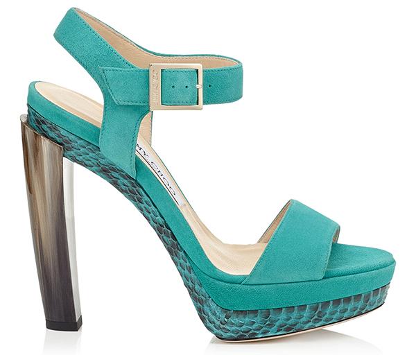 Голубые туфли в новой коллекции Jimmy Choo