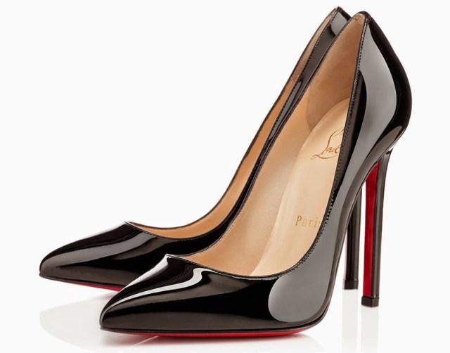 Классические черные туфли лодочки с красной подошвой от легендарного дизайнера Кристиана Лабутена