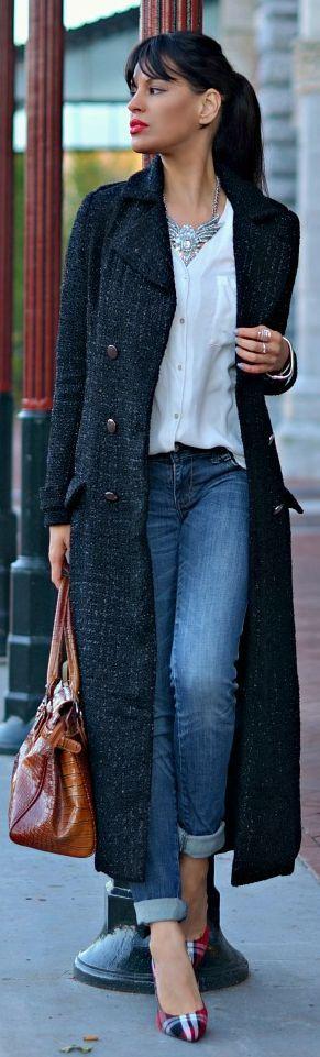 Длинное модное весеннее пальто 2016 – фото новинки весны 2016