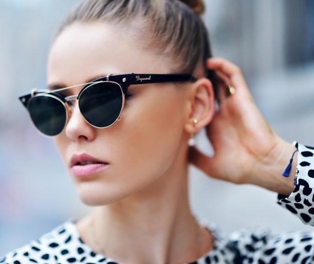 Модные женственные и шикарные очки формы кошачьи глаза.
