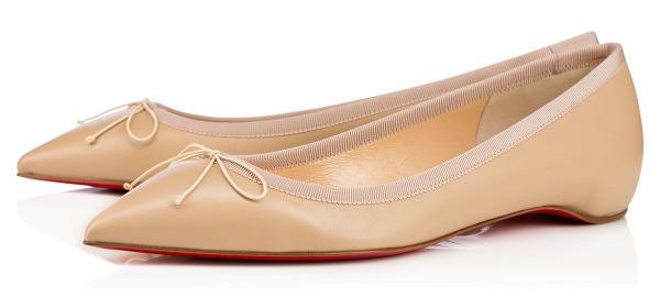 Новая интересная новинка- от Кристиана Лубутена туфли в стиле nude, бежевые балетки.